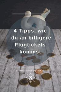 4 Tipps, wie du an billigere Flugtickets kommst | Du hast das Reisefieber, aber nur ein knappes Budget? – Kein Problem! Du kannst bei Flugtickets viel Geld sparen. Lies diese Tipps!