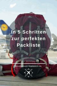 In 5 Schritten zur perfekten Packliste | Du suchst nicht irgendeine Packliste, sondern möchtest dir deine ganz eigene zusammenstellen? - Hier kommt deine Schritt-für-Schritt-Anleitung!